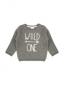 Baby Boys Quilted Wild One Sweatshirt