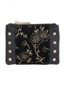 Gold And Black Stud Detail Coin Purse