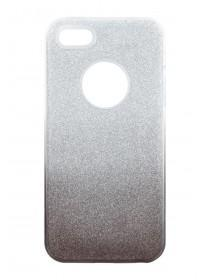Womens Silver Ombre Glitter Phone Case