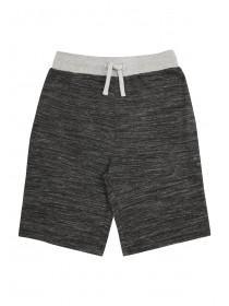 Older Boys Black Space Dyed Panel Shorts