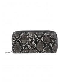 Womens Snake Zip Around Purse