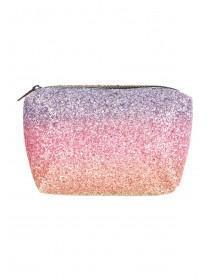 Womens Rainbow Glitter Cosmetic Bag
