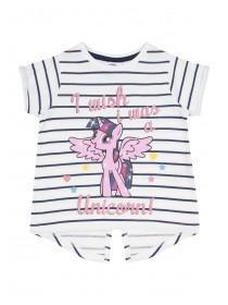 Younger Girls White My Little Pony Unicorn T-Shirt