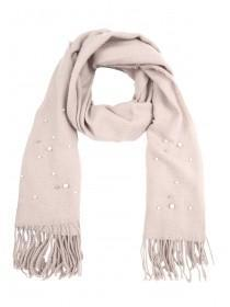 Womens Pink Pearl Scarf