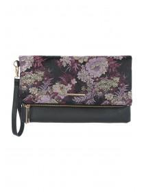 Womens Floral Brocade Clutch