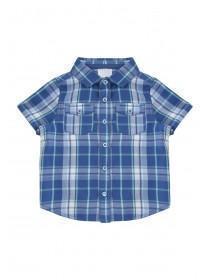 Baby Boys Blue Check Shirt