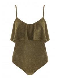 Jane Norman Gold Lurex Frill Bodysuit