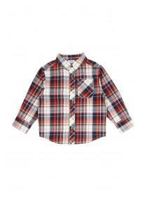 Younger Boys Twill Check Shirt