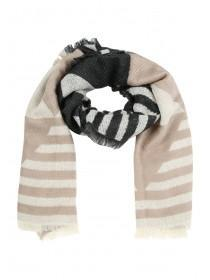 Womens Oversized Stripe Scarf