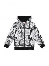 Younger Boys Mono Spiderman Hoody