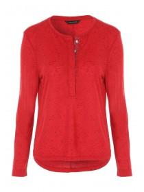 Womens Long Sleeve Red Top