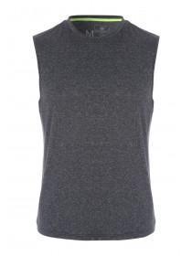 Mens Grey Texture Vest
