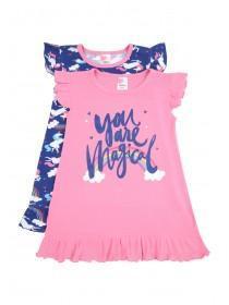 Girls 2PK Hot Pink Nightdress
