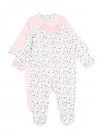 Baby Girl 2PK Floral Sleepsuits