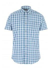 Mens Turquoise Check Shirt