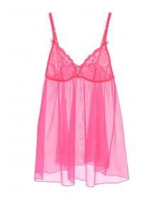 Womens Hot Pink Non-Padded Babydoll