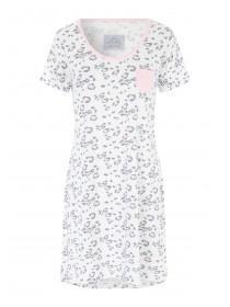 Womens Cream Leopard Nightshirt
