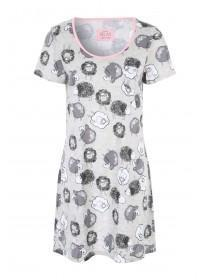 Womens Grey Sheep Nightshirt