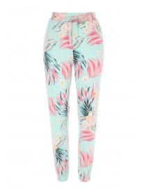 Womens Aqua Floral Pyjama Bottoms