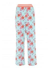 Womens Aqua Flamingo Pyjama Pants