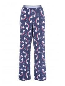 Womens Blue Rainbow Pyjama Pants