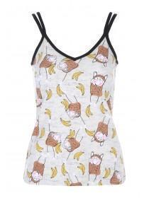Womens Grey Novelty Cami