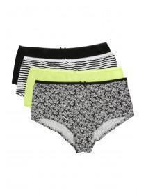 Womens 4PK Light Green Shorts