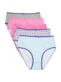 Older Girls 5PK Purple Briefs