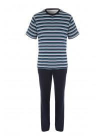 Mens Striped Jersey Pyjamas