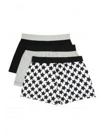Boys 3PK Black Loosefit Boxers
