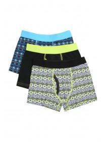 Younger Boys 3PK Black Trunks