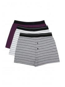 Mens 3PK Purple Loosefit Boxers