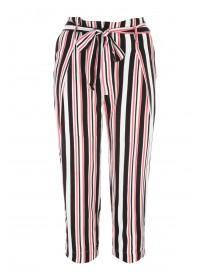 Womens Cropped Stripe Trousers