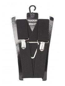 Mens Basic Black Braces