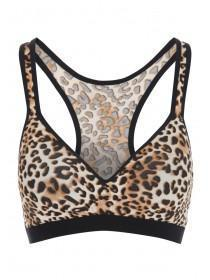 Womens Animal Print Sports Bra