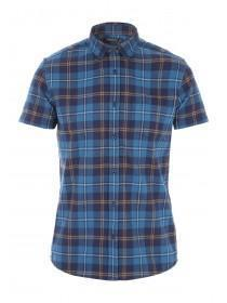 Mens Blue Flannel Check Shirt