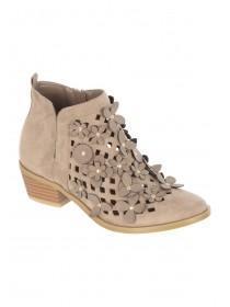 Older Girls Natural Floral Western Boots