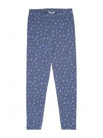 Older Girls Printed Blue Floral Leggings