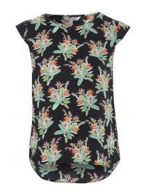 Womens Pleat Back Paradise Print Top