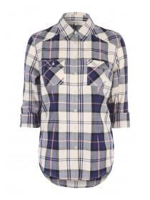 Womens Dark Blue 3/4 Sleeve Shirt
