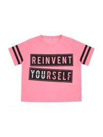 Older Girls Pink Reinvent T-Shirt