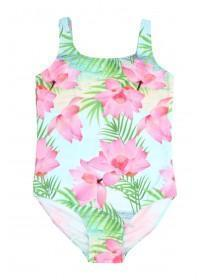 Older Girls Lotus Print Swimsuit