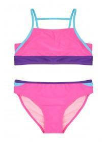 Older Girls Pink Colour Block Bikini