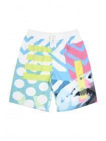 Older Boys White Shark Swim Shorts