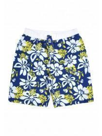 Older Boys Blue Hibiscus Swim Shorts