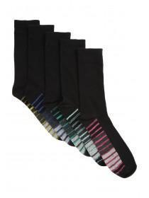 Mens 5PK Spacedye Design Socks