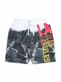Older Boys Cityscape Swim Shorts