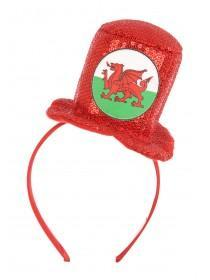 Red Welsh Hat Headband