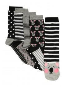 Womens 5Pk Novelty Socks