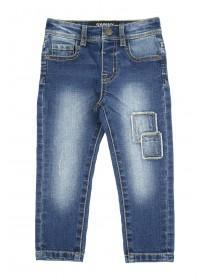 Younger Boys Blue Rip & Repair Skinny Jean